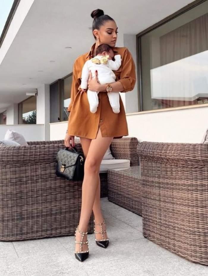 Carmen Simionescu siluetă de model, la o lună jumătate de când a devenit mămică! Artista s-a refăcut complet după naștere. FOTO