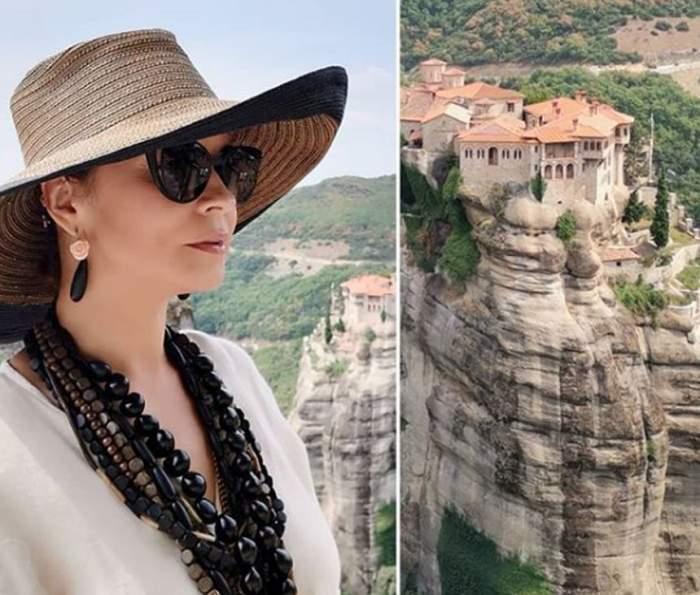 Andreea Marin a ajuns la mănăstire. Vedeta a petrecut zile de vis, departe de agitaţie, alături de iubitul ei