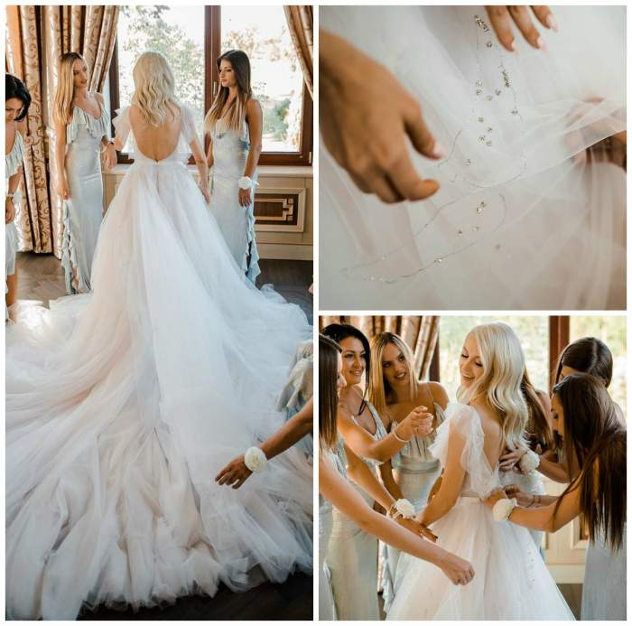 Primele imagini cu rochia de mireasă a Andreei Bălan! Duminică face și nuntă și botez. FOTO
