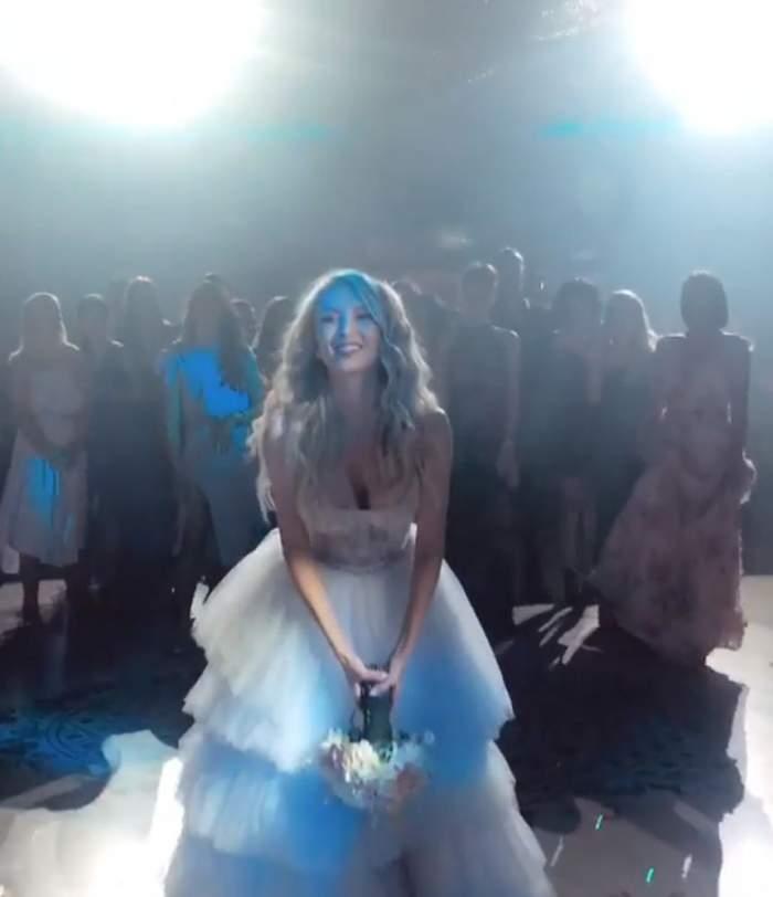 Bat clopote de nuntă, din nou, în showbiz? Cine a prins buchetul de mireasă la nunta Andreei Bălan