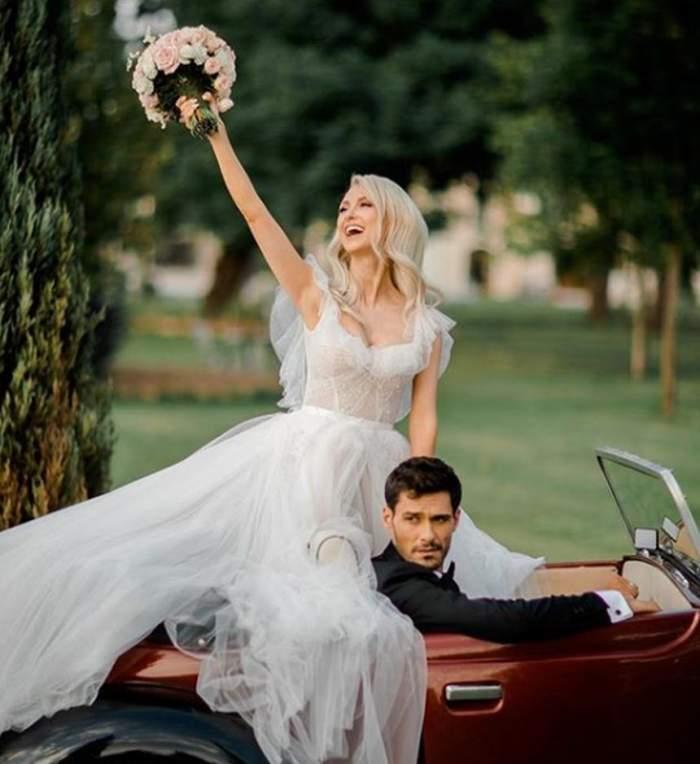 """Andreea Bălan şi-a lansat melodia """"Înger păzitor"""". Videoclipul spectaculos este filmat chiar în ziua nunţii / VIDEO"""