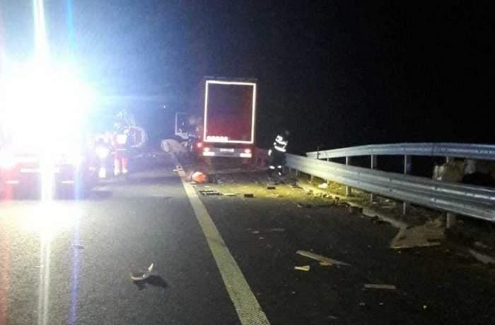 Accident foarte grav pe autostrada A1! Doi oameni au murit