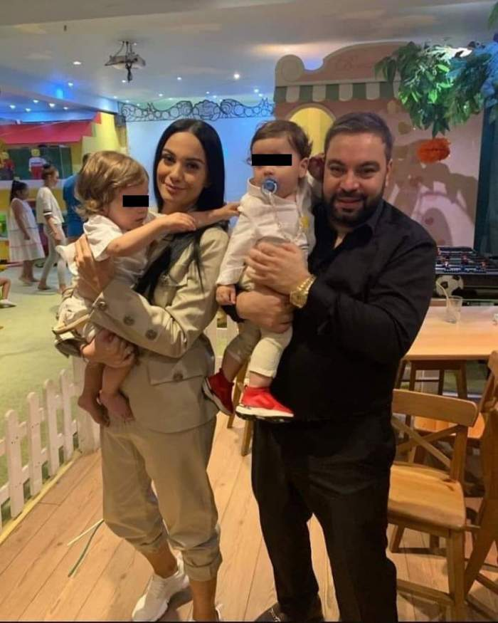 Fotografie emoţionantă cu nepotul şi copiii lui Florin Salam. Cum se bucură artistul de familie după retragerea din muzică