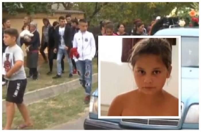 Imagini sfâşietoare de la înmormântarea Adrianei, fetiţa ucisă în Dâmboviţa. Zeci de oameni o conduc pe ultimul drum