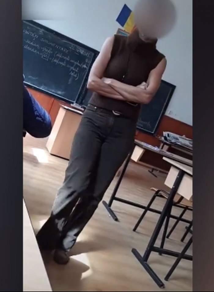 """Imagini revoltătoare! Profesoară umilită şi batjocorită de o elevă în timpul orelor. """"Nebuna mea, hai la cimitir să te îngrop puţin"""""""