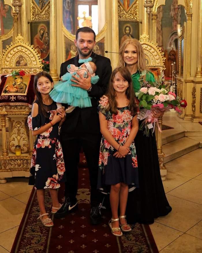 Primele imagini de la botezul mezinei lui Mihai Morar. Roua a fost o mică prințesă. FOTO