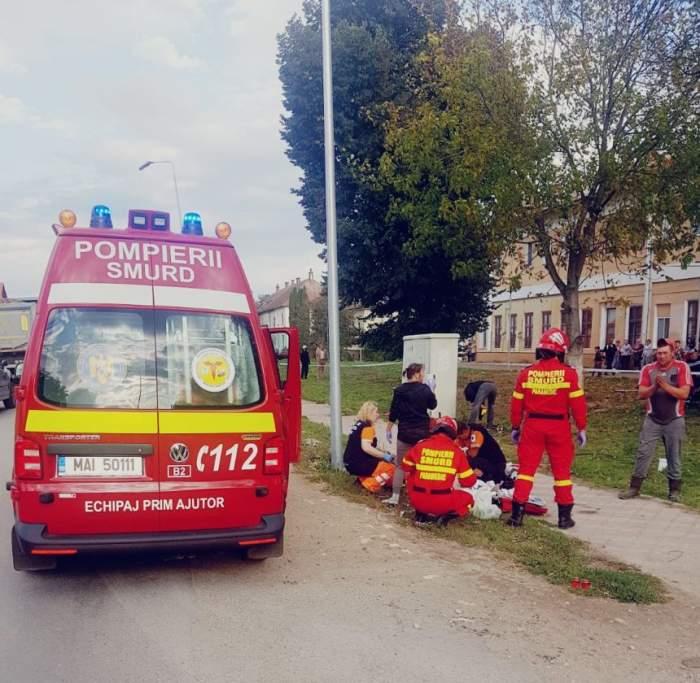 Tragedie fără margini, în Braşov. O fetiţă de opt ani a fost ucisă pe trotuar, iar alte două persoane sunt în stare gravă
