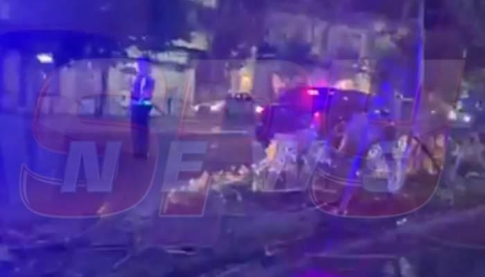 Accident grav în București!Două mașini s-au ciocnit puternic