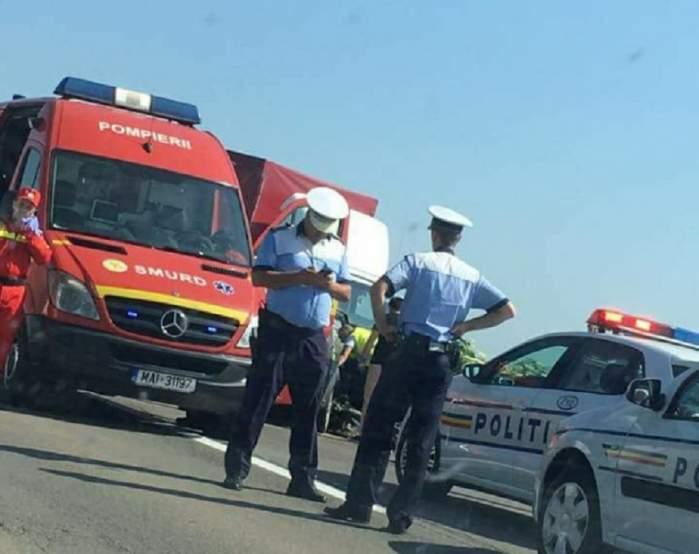 Accident pe Autostrada Soarelui. O maşină s-a răsturnat