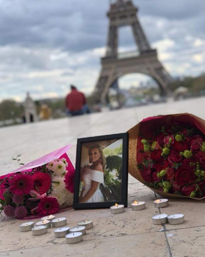 Iubitul româncei de 23 de ani care a murit în aprilie la Paris, înainte să fie cerută în căsătorie, gest sfâșietor! S-a întors la locul tragediei