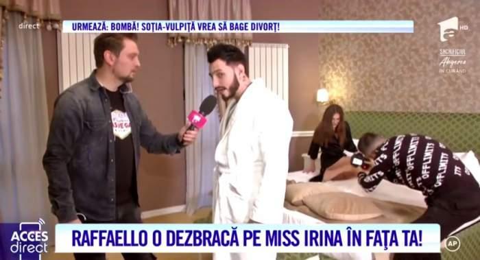 Miss Irina l-a făcut băiat de casă. Raffaello i-a compus o melodie iubitei, pentru a-l ierta / VIDEO