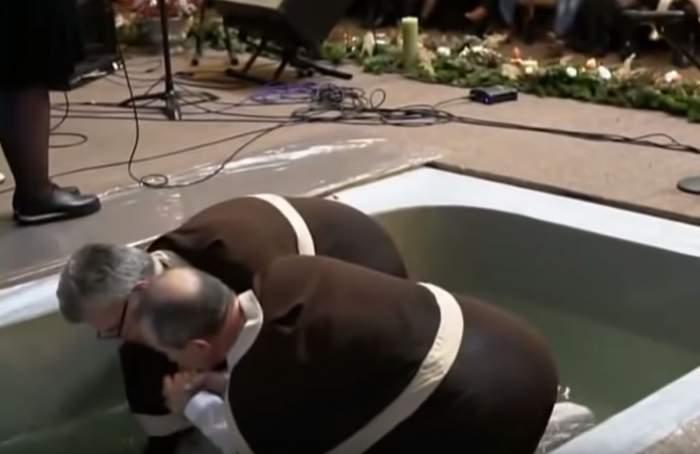 Fotbalistul Steliano Filip s-a botezat la neoprotestanți. Primele imagini