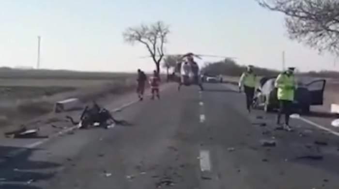 Accident cumplit în Argeş! O tânără a murit în urma coliziunii dintre trei autoturisme şi o autocisternă