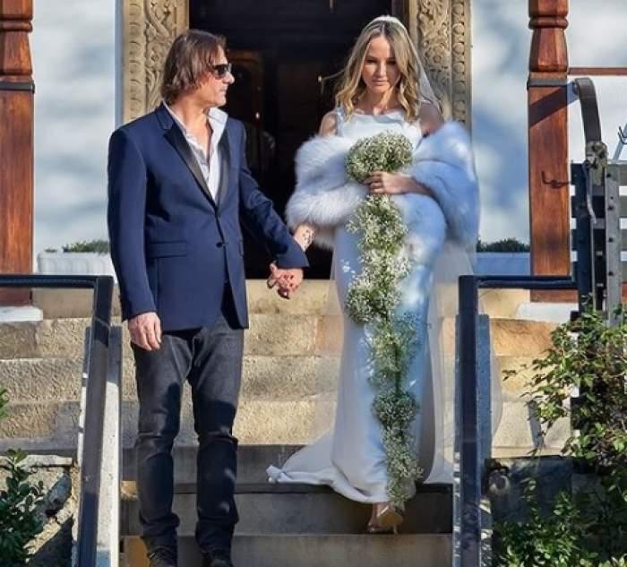 Octavia Geamănu și Marian Ionescu s-au căsătorit religios astăzi. Primele imagini de la ceremonie / FOTO