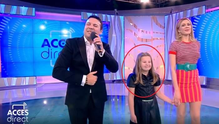 Acces Direct. Cum a reacţionat fetiţa lui Nicu Paleru în direct, cât timp tatăl ei a cântat / FOTO