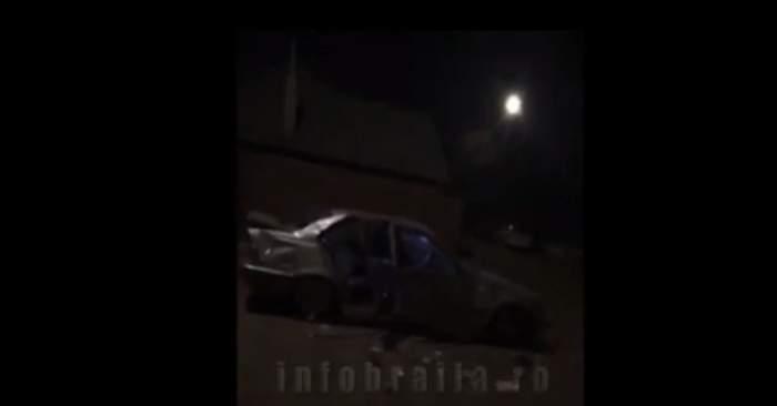 """VIDEO / Un tânăr din Brăila și-a incendiat mașina de lux, live pe Facebook: """"M-am plictisit de ea"""""""