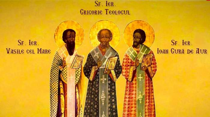 Calendar ortodox, joi, 30 ianuarie. Creştinii îi sărbătoresc pe Sfinţii Trei Ierarhi