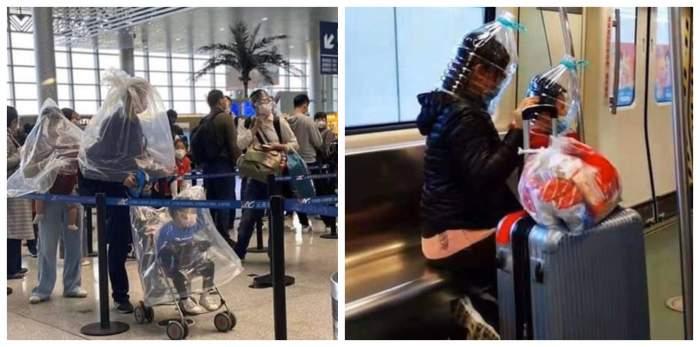 FOTO / De necrezut! Cum au ajuns să se îmbrace oamenii în aeroport, de teama virusului din China