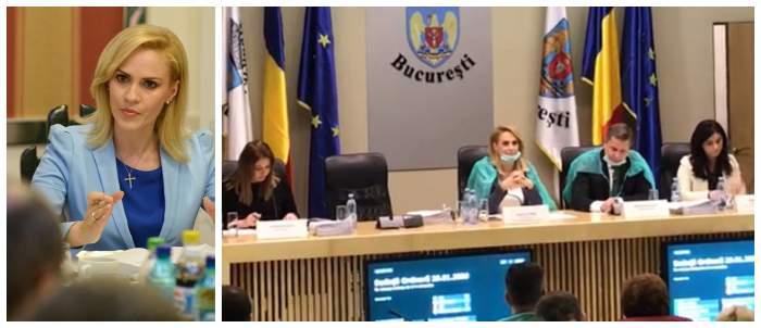 """FOTO / Gabriela Firea, în halat şi cu mască de protecţie la şedinţele Guvernului! """"Nu trebuie să stăm cu mâinile-n sân"""""""
