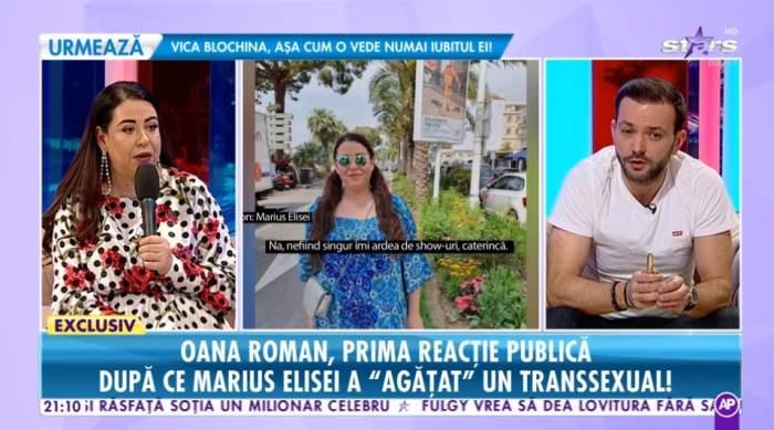 """Oana Roman, prima declarație publică după ce Marius Elisei a """"agățat"""" un transsexual"""