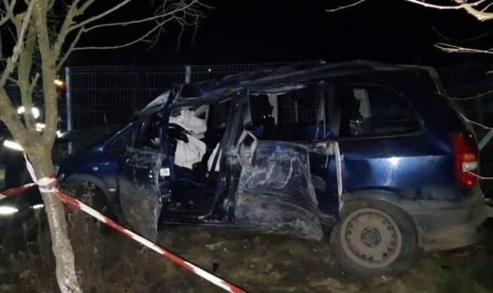 O tânără mamă a murit în faţa celor trei copii, în urma unui accident devastator în Giurgiu. La volan se afla chiar soţul, care consumase alcool