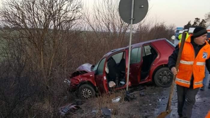 Nenorocire în Timiş! Două persoane au murit pe şosea, după ce o maşină a intrat pe contrasens
