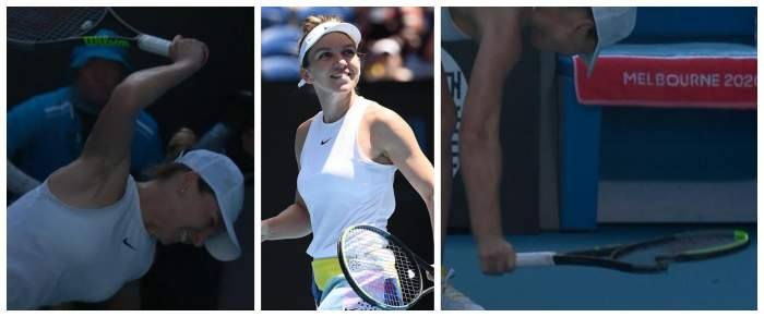 FOTO / Simona Halep a făcut o criză de nervi după ce a fost eliminată de la Australian Open! Tenismena şi-a distrus racheta
