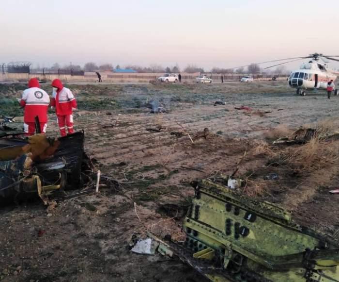 Avion ucrainean cu 180 de pasageri, prăbuşit la scurt timp după decolare, în Iran. Niciun supravieţuitor!