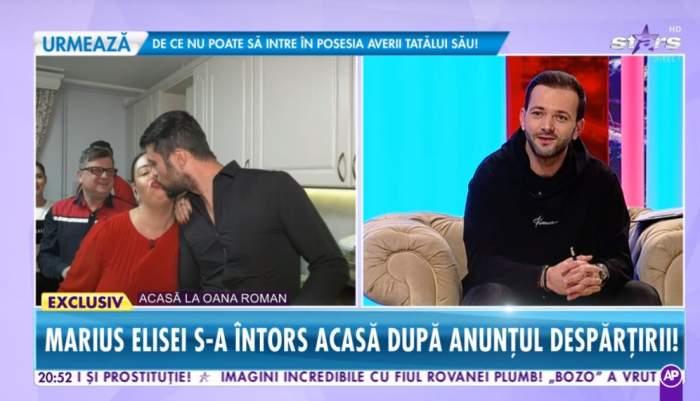 Oana Roman şi Marius Elisei s-au împăcat în direct la Antena Stars! S-au sărutat în văzul tuturor