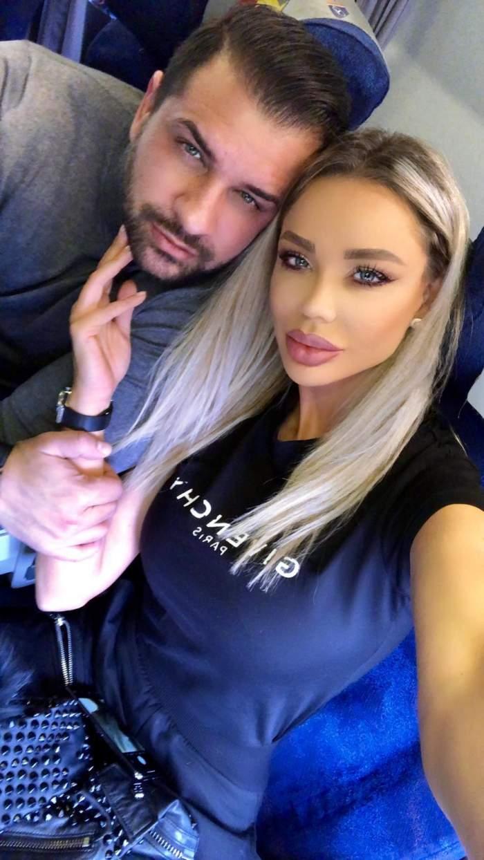 Bianca și Alex Bodi s-au fotografiat în avion