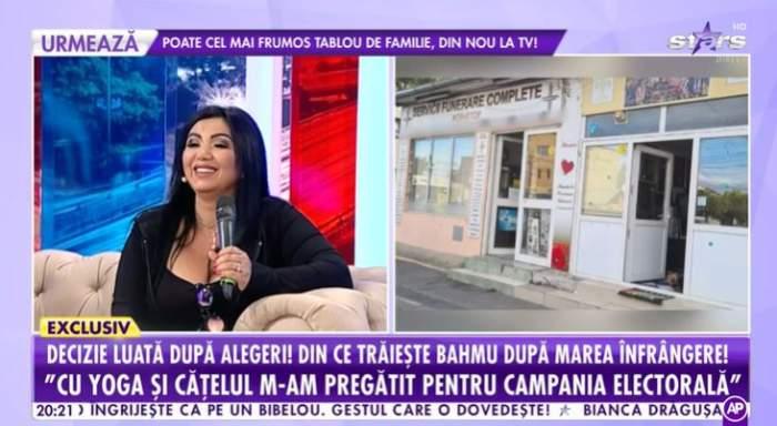 Cum a ajuns Adriana Bahmuțeanu să-și facă campanie printre sicrie și coroane?