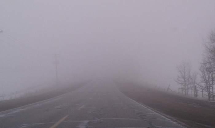 Ceață pe stradă