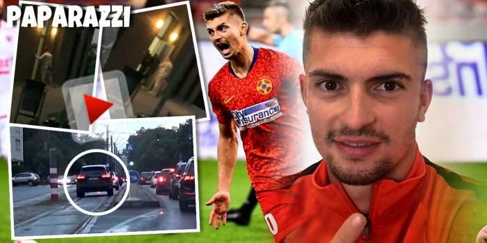 Florin Tănase intră în casă doar cu ajutorul vecinilor. Ce a pățit fotbalistul după ce a încălcat regulile de circulație în mijlocul Capitalei / PAPARAZZI