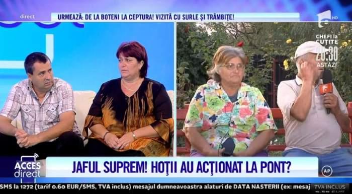 """Acces Direct. Tatăl Mihaelei, femeia din Pitești păgubită de 47.000 de euro, a fost în casă în momentul producerii jafului: """"Am văzut pe cineva"""" / VIDEO"""