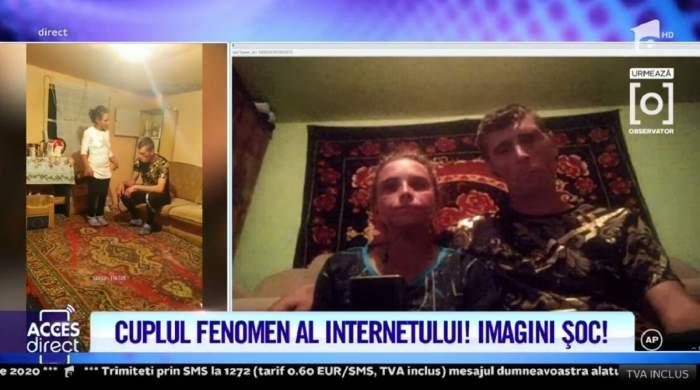 """Alexandra și Ionuț Bodi, """"regii TikTok-ului"""", dezvăluiri din intimitate! Locuiesc într-o singură cameră și au doi copii: """"Ne-am cunoscut pe Internet"""" / VIDEO"""