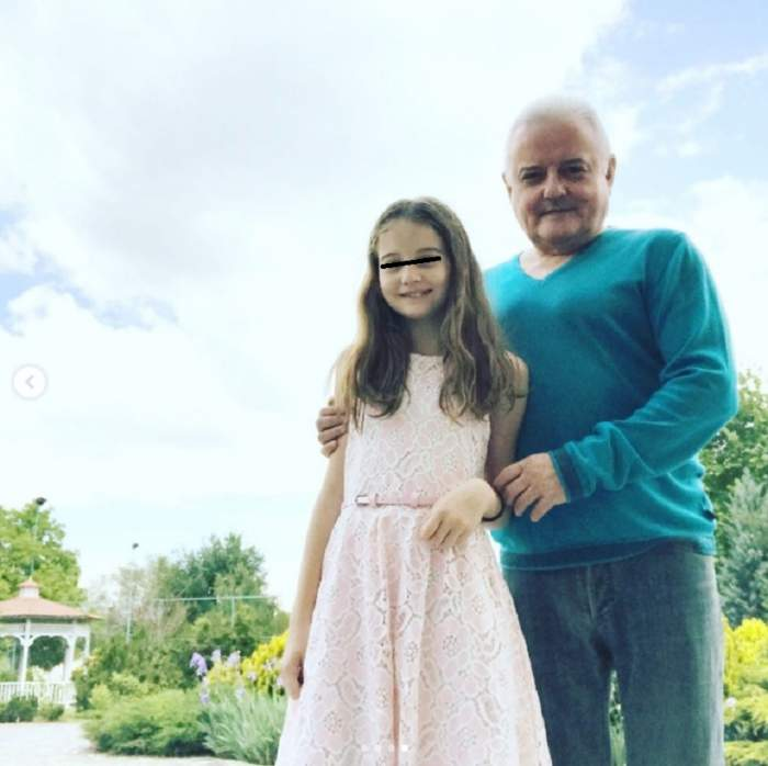 Fotografie cu Irinel Columbeanu și fiica sa, Irina