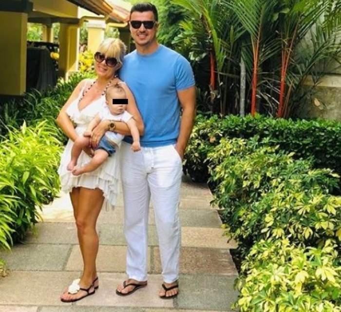 Fotografie cu Elena Udrea, fiica sa și Adrian Alexandrov