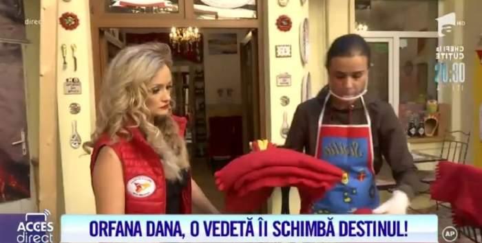 """Amalia de la """"Chefi la Cuțite"""" vrea să o angajeze pe Dana, tânăra orfană! Cum s-a descurcat la restaurant: """"Îmi doresc să aibă răbdare cu mine"""" / VIDEO"""