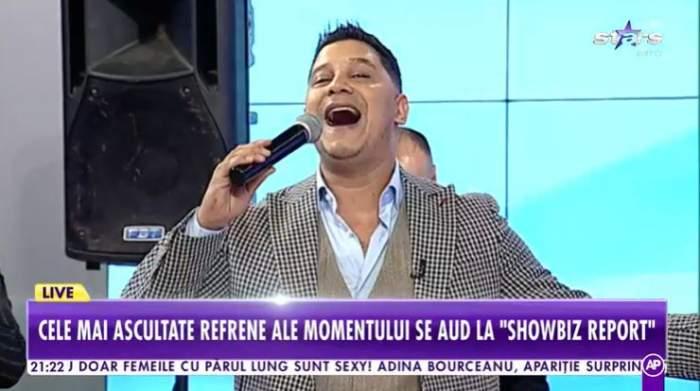 """Cocoș de la Călărași în platou de la """"Showbiz Report""""."""