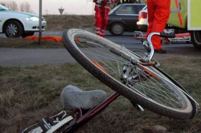 Imagine ilustrativa cu o bicicleta abandonata
