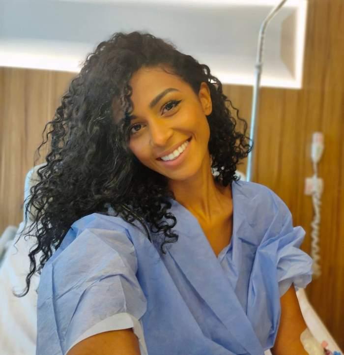 Majda Aboulumosha s-a fotografiat înainte de operație.