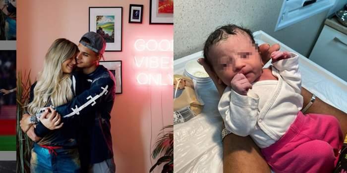 Cristi Manea a devenit tată la 23 de ani. Prima reacție a fotbalistului, după ce iubita lui, Irina Deaconescu, a născut! / FOTO