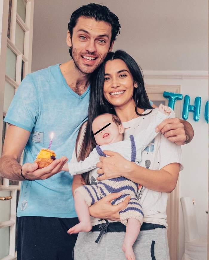 Lili Sandu, Silviu Țolu și fiul lor s-au fotografiat îmbrățișați și zâmbitori