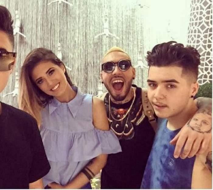 Antonia apare intr-un selfie alaturi de Alex Velea, Lino Golden si Mario Fresh