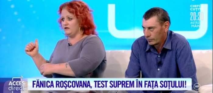 """Fănica Roșcovana și soțul, în platoul emisiunii """"Acces Direct"""""""
