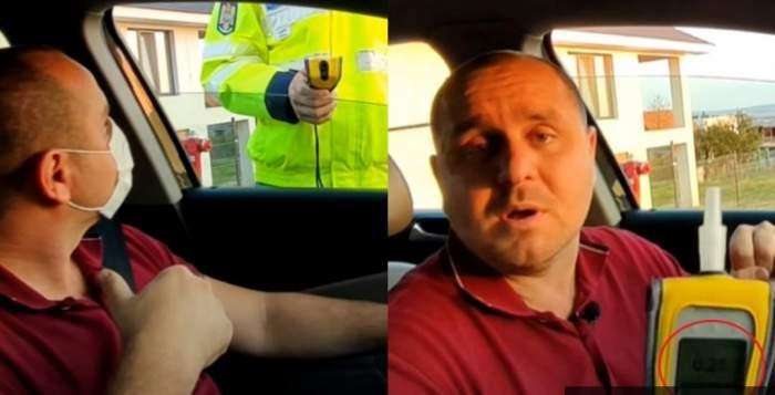 Măsurile de protecție anti-Covid pot da bătăi de cap șoferilor! Un polițist a fost depistat cu alcoolemie, după ce s-a dat cu spirt pe mâini / VIDEO