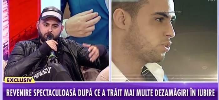 Alex Mica, îmbrăcat în negru, a vorbit la Antena Stars despre viața sa amoroasă