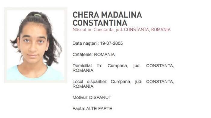 Datele Madalinei Constantina Chera