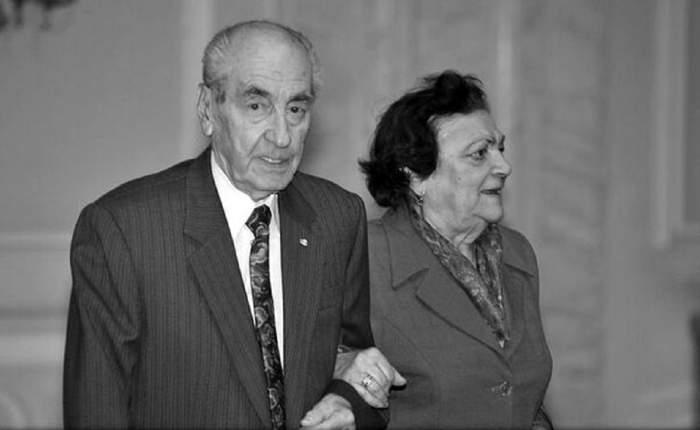 Viorica Quintus și soțul ei, Mircea Ionescu Quintus. Cei doi se țin de braț.