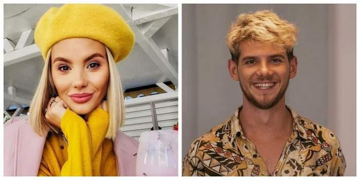 Un colaj cu Ramona Olaru și Cuza. Ea poartă o beretă și o bluză galbenă, iar el zâmbește larg.